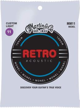 Martin Retro Custom Light Acoustic Guitar Strings .011-.052