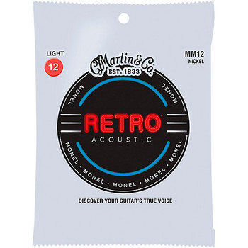 Martin Retro MM12 Acoustic Guitar Strings Light .012-.054
