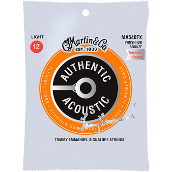 Martin MA540FX 92/8 Tommy Emmanuel Signature Authentic Acoustic Flexible Core Guitar Strings Light .012-.054