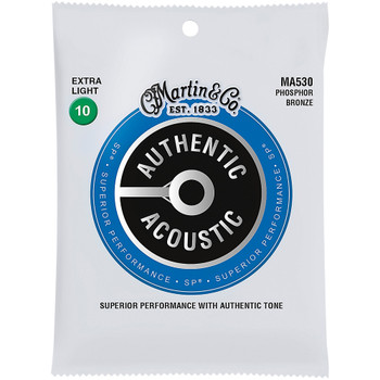 Martin MA530 92/8 Authentic Acoustic SP® Bronze Guitar Strings Extra Light .010-.047