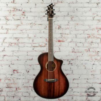 Breedlove Limited Edition Oregon Concert CE Acoustic/Electric Guitar Myrtlewood-Myrtlewood Black Cherry x6028