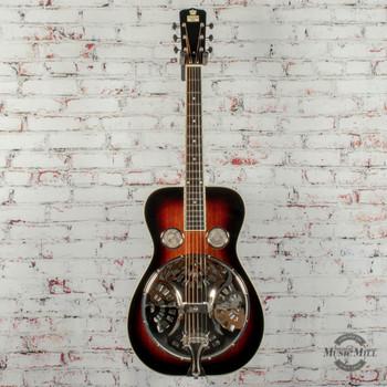 Recording King Professional Series Roundneck Resonator Acoustic Guitar Vintage Sunburst x0240