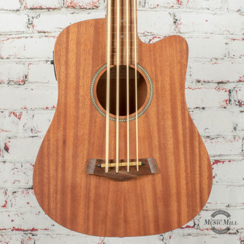 Goldtone M-Bass FL 23-Inch Scale Fretless Acoustic-Electric MicroBass Natural x0002
