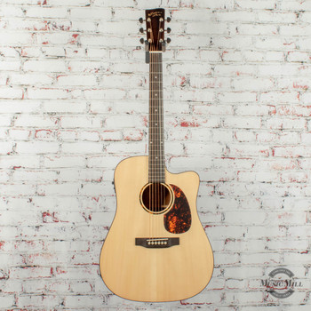 Recording King RD-G6 Dreadnought Cutaway Acoustic/Electric Guitar Natural x0330