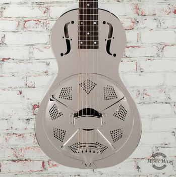 Recording King Swamp Dog Parlor Brass Resonator Guitar x0084