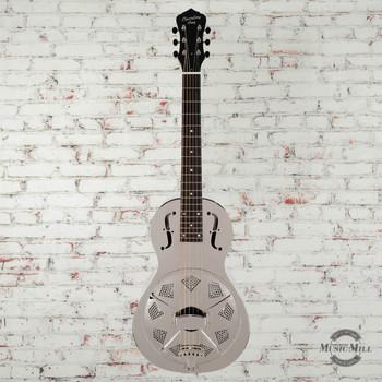 Recording King Swamp Dog Parlor Brass Resonator Guitar x0084