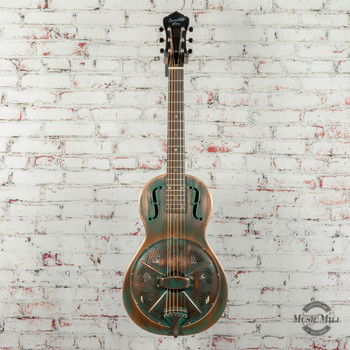 Recording King Swamp Dog Parlor Resonator Distressed Brass