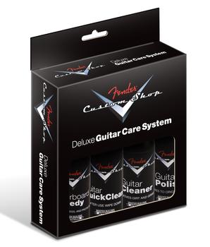 Fender Custom Shop Deluxe Guitar Care System, 4 Pack, Black