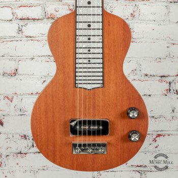 Recording King Lap Steel P-90 Natural Mahogany x0342