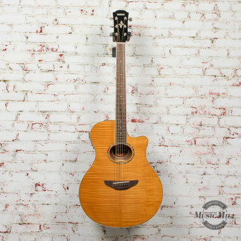 Yamaha APX600FM-AM Acoustic/Electric Guitar Flamed Maple Natural x7149