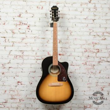 Epiphone AJ-210CE Outfit (Incl. Hard Case) Acoustic Electric Guitar Vintage Sunburst x4024