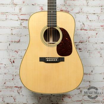 Martin HD-28E Acoustic Electric Guitar - Natural with Fishman Aura VT Enhance Electronics x6536