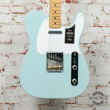 Fender Vintera 50's Telecaster Electric Guitar Sonic Blue x2136