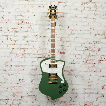 D'Angelico Deluxe Ludlow Electric Guitar Hunter Green x3635 (USED)