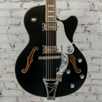 Epiphone Emperor Swingster Hollowbody - Black Aged Gloss x1283