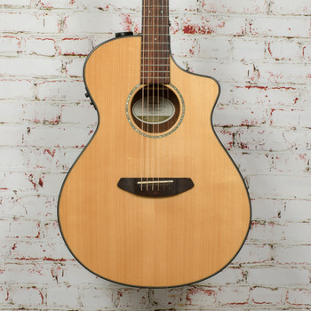 Breedlove Pursuit Concert Ebony Acoustic Electric Guitar Natural x6869 (USED)