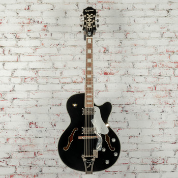 Epiphone Emperor Swingster Hollowbody - Black Aged Gloss x1256