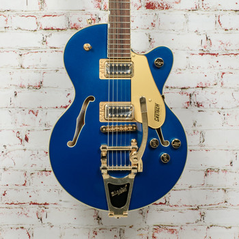 Gretsch G5655TG Electromatic® Electric Guitar Center Block Jr. Single-Cut with Bigsby® and Gold Hardware, Laurel Fingerboard, Azure Metallic x0484