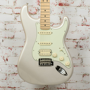 Fender Deluxe Strat HSS Electric Guitar Blizzard Pearl x3293