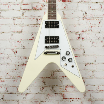 Gibson 70s Flying V - Classic White Electric Guitar x0221