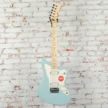 Squier Mini Jazzmaster HH Electric Guitar Daphne Blue x9824