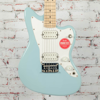 Squier Mini Jazzmaster HH Electric Guitar Daphne Blue x4132