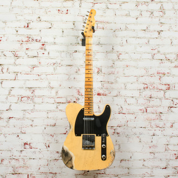 Fender Custom Shop 1952 Telecaster Electric Guitar Heavy Relic Aged Blonde x8764