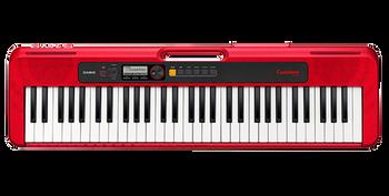 Casio Casiotone, 61-Key Portable Keyboard w/USB, RED