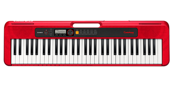 Casio Casiotone, 61-Key Portable Keyboard w/USB, RED