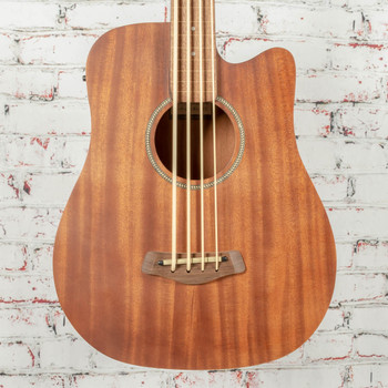 Gold Tone M-Bass25FL 25-Inch Scale Fretless Acoustic-Electric MicroBass with Gig Bag x007