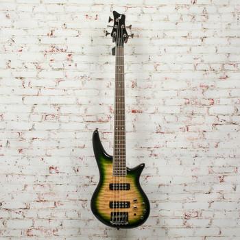 Jackson JS Series Spectra Bass JS3QV Electric Bass, Laurel Fingerboard, Alien Burst x9592