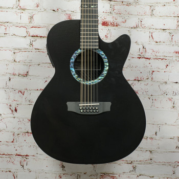 Rainsong CO-WS3000 12-String Acoustic Electric Guitar Black (DEMO) x9885