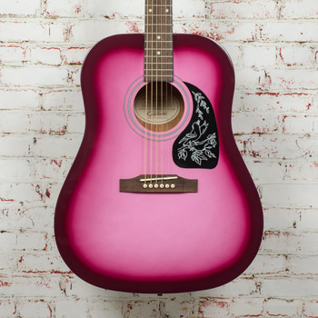 Epiphone Starling Acoustic Guitar - Hot Pink Pearl x9774