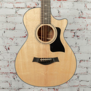 Taylor 352ce V-Class 12-Fret Grand Concert 12-String Acoustic Electric Guitar Natural x1108