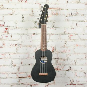 Fender Venice Soprano Uke, Walnut Fingerboard, Black x1153