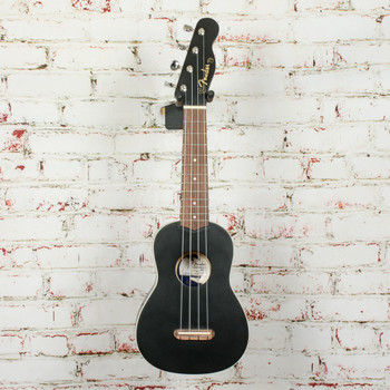 Fender Venice Soprano Uke, Walnut Fingerboard, Black x1004