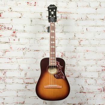 Epiphone Hummingbird Acoustic/Electric Tenor Ukulele Outfit Tobacco Sunburst x0026