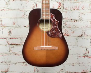Epiphone Hummingbird Acoustic/Electric Tenor Ukulele Outfit Tobacco Sunburst x0053
