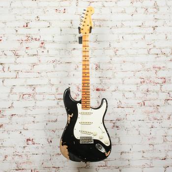 Fender Custom Shop 59 Stratocaster Electric Guitar Maple Neck Heavy Relic - Black x1772