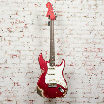 Fender Custom Shop '69 Stratocaster Heavy Relic- Reverse Headstock - Candy Apple Red x3144