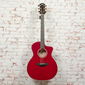 Taylor 214ce Deluxe Acoustic-Electric Guitar - Red x1257