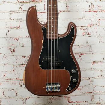 Vintage 1977 Fender Precision Bass Fretless 4-String Electric Bass Walnut x6814 (USED)