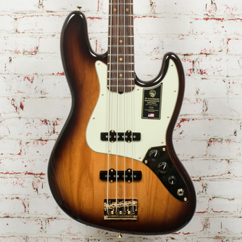 Fender 75th Anniversary Commemorative Jazz Bass®, Rosewood Fingerboard, 2-Color Bourbon Burst x8449