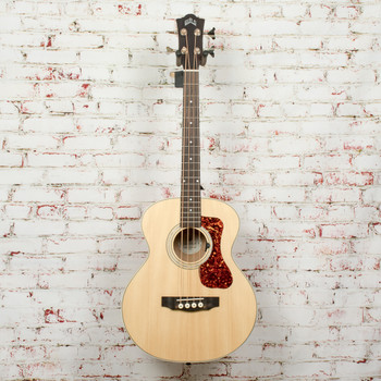Guild Jumbo Junior Acoustic-Electric Bass Guitar Flame Maple x9563 (USED)