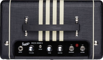 Supro Delta King 8 1 x 8-inch 1-watt Tube Guitar Combo Amplifier-Black & Cream 1818-bc