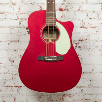 Fender  Sonoran™ SCE Acoustic Electric Guitar, Candy Apple Red with Matching Headstock x4711 (USED)