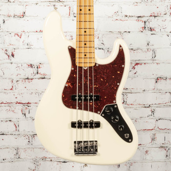 Fender American Professional II Jazz Bass®, Maple Fingerboard, Olympic White x7826