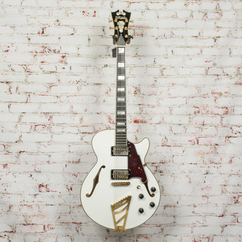 D'Angelico Excel Series SS Semi-Hollowbody Electric Guitar with Stairstep Tailpiece White x6175 (USED)