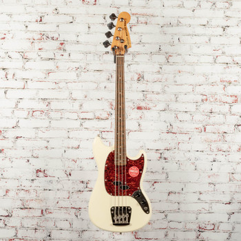 Squier Classic Vibe '60s Mustang® Bass Electric Bass, Laurel Fingerboard, Olympic White x4003