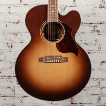 Gibson J-185 EC Acoustic/Electric Guitar Modern Walnut Burst x1053